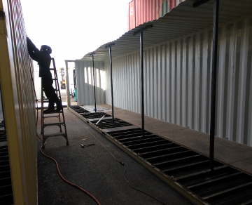 Cutting a 12' Shipping Container