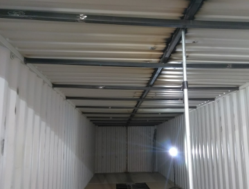 12 foot wide Shipping Container roof