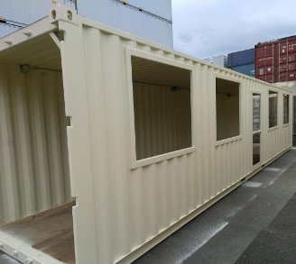 40 Foot Shipping Container Sidewalk