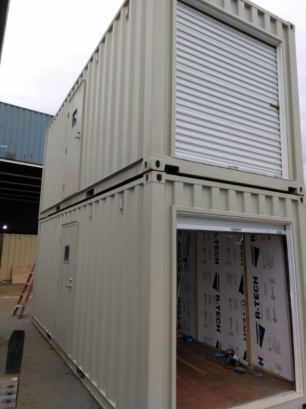 Steel shipping container insulation