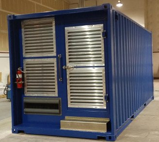 Shipping Container Generator Room Modification