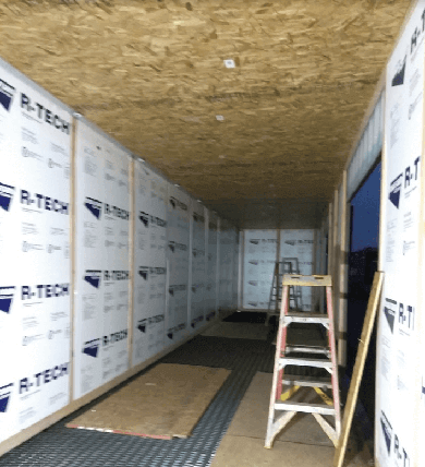 container ceiling insulation