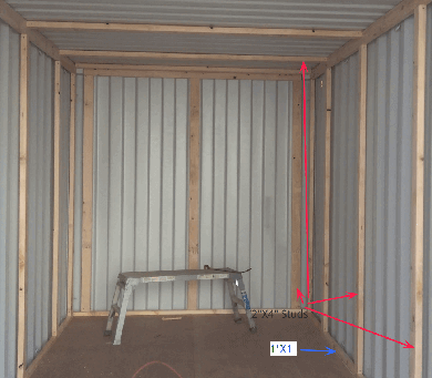 Container Insulation Framing