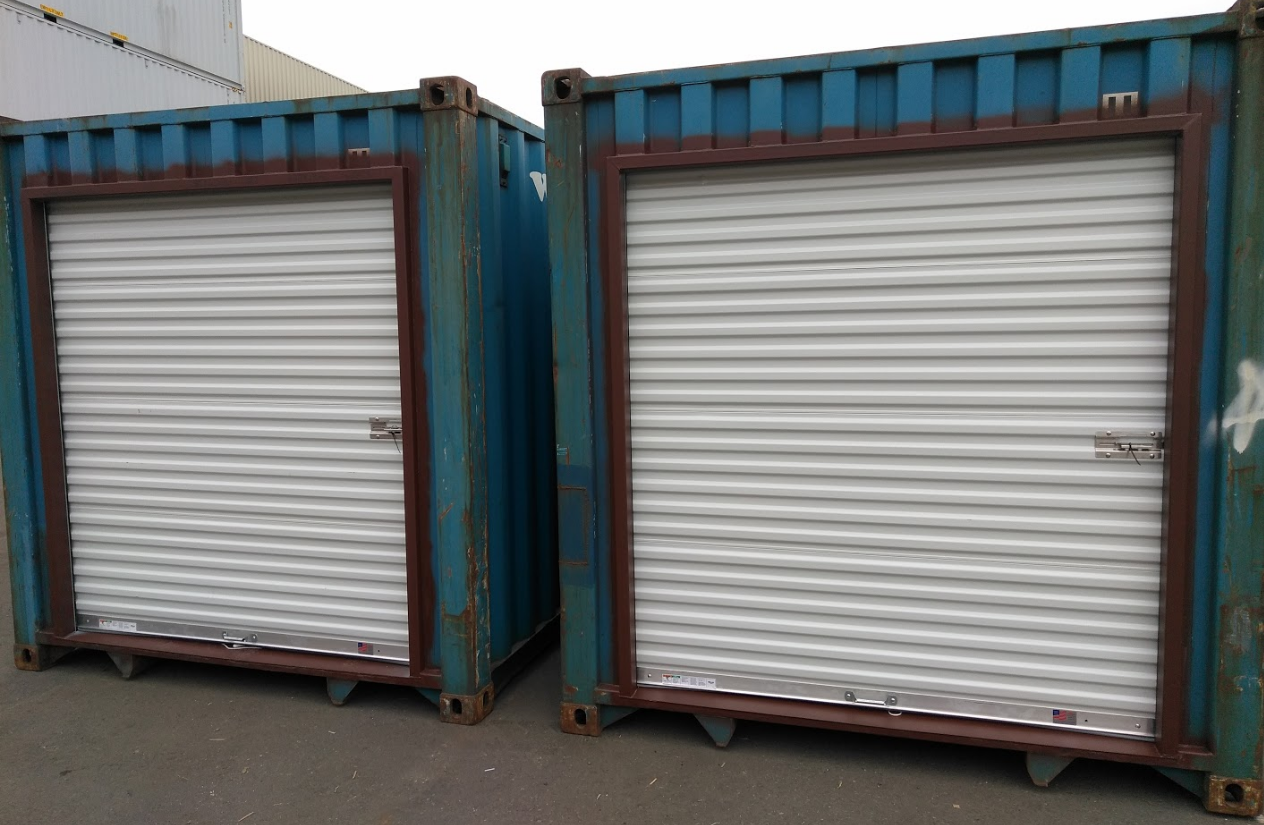 shipping container door modificaton