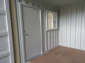 shipping container doors and windows