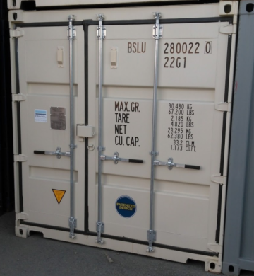 standard shipping container doors