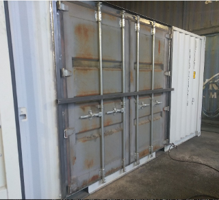 Shipping Container With Side Doors