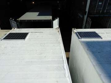 shipping container solar panels
