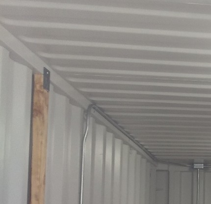 Storage container tool shed