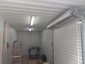 Shipping Container Tool Storage Lighting