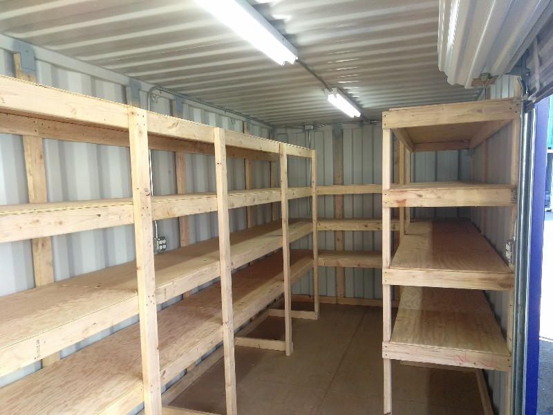 Shipping Container Tool Storage