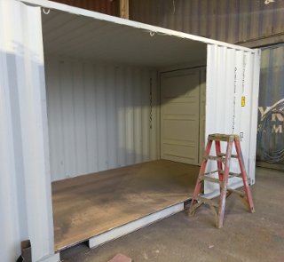 20 foot shipping container Side Door Cut Out