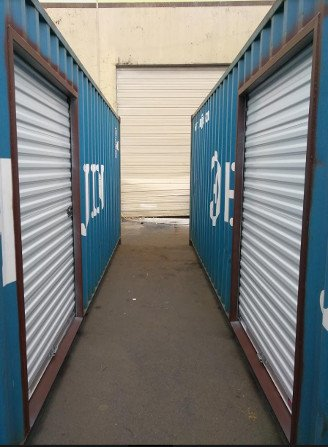 roll up door container modification