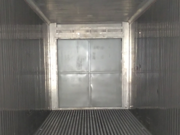 sealed front of refrigerated shipping container