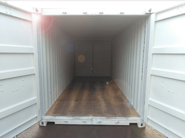 Dual doors steel container