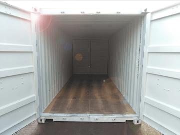 Dual doors steel container