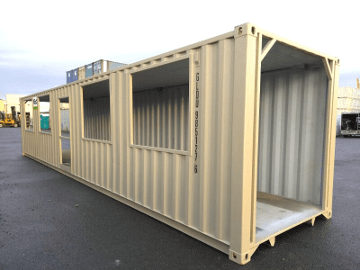 Shipping container tunnels
