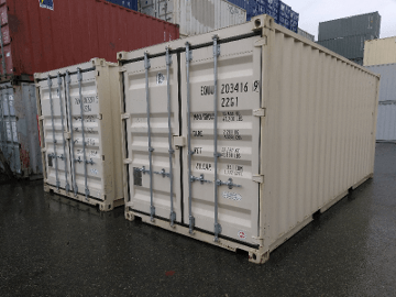 standard height shipping container